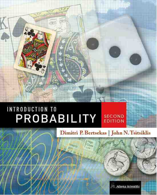 Textbook: Introduction to Probability, 2nd Edition